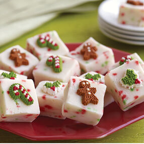 Christmas Confetti Fudge Squares