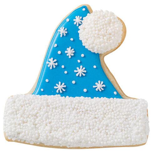 Snowflake Santa Hat Cookie