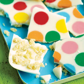 Polka Dot Candy Bark
