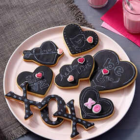 Chalkboard Love Notes Cookies