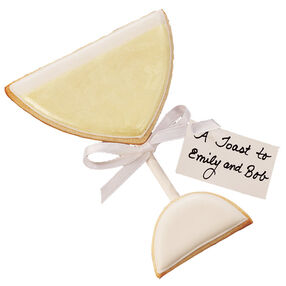 A Champagne Toast Cookie