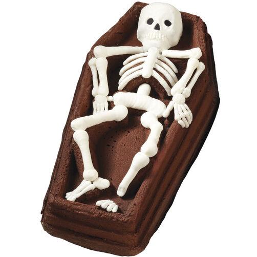 Creepy Skeleton Casket 3-D Cake