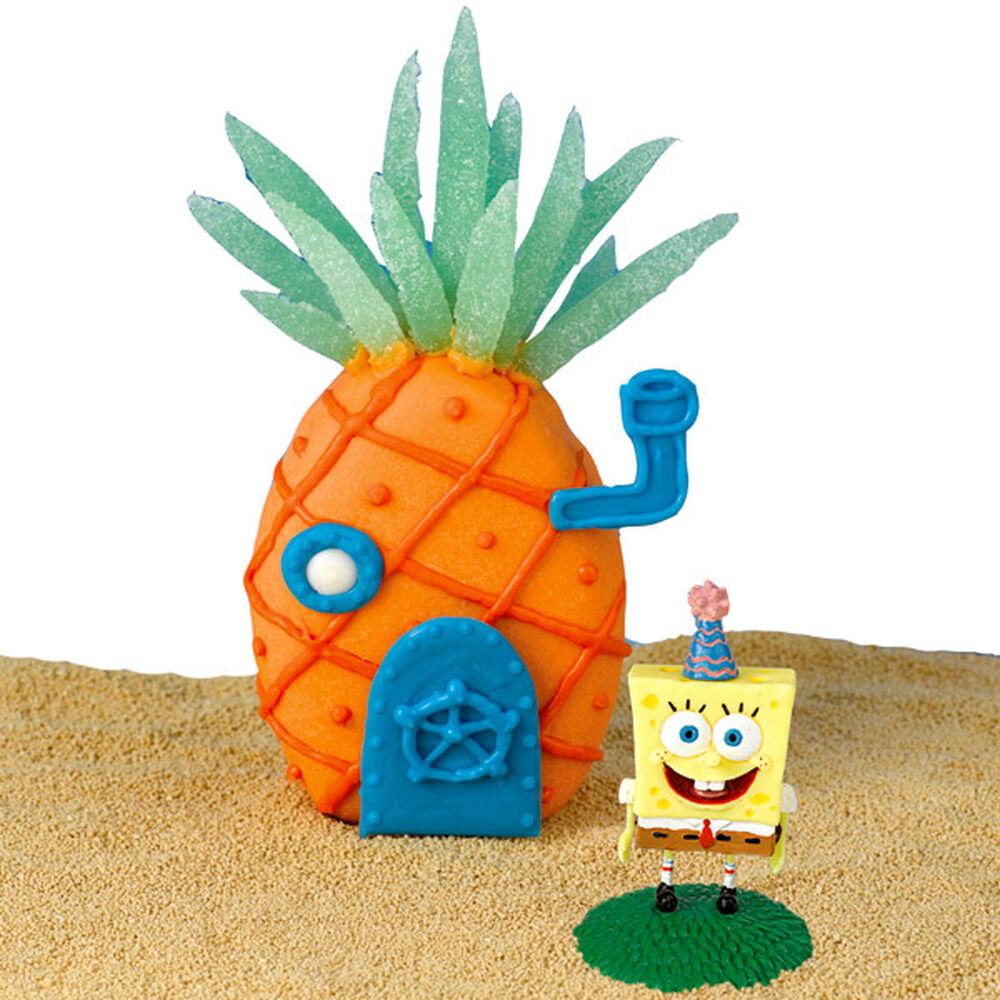 tropical spongebob mini cake wilton