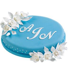 Monogrammed Memories Cake
