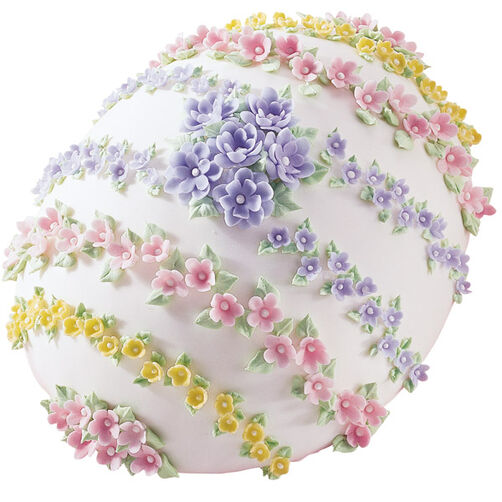 Flowerful Egg Cake