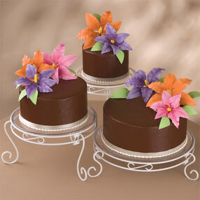 Blossoming Chocolate Trio Cake