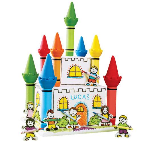 Crayon Castle 3D Cake