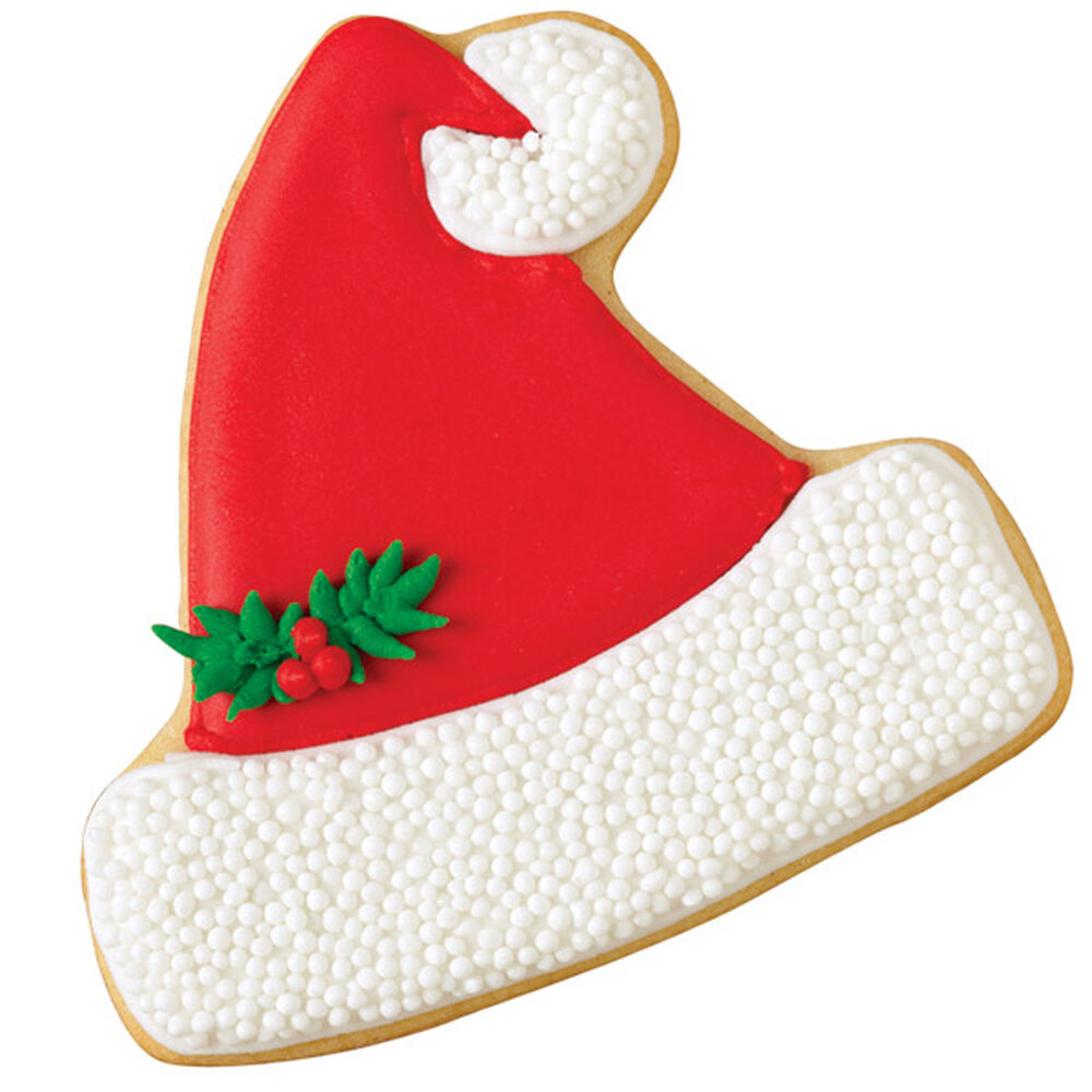 Jolly Santa Hat Cookie Wilton