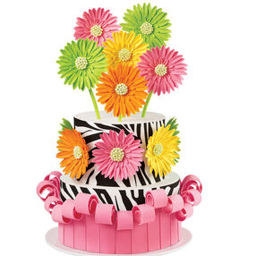 Flamboyantly Floral Daisy Cake