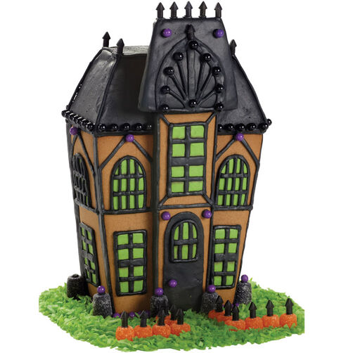 Eerie Entrance Halloween Gingerbread House