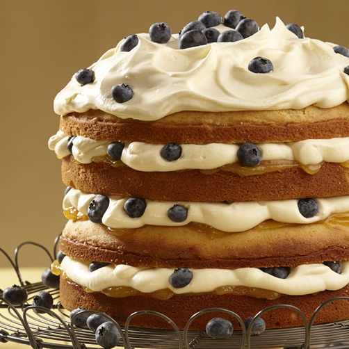 Lemon Blueberry Torte