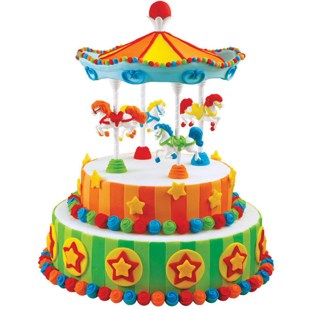 Circus Carousel Cake Wilton