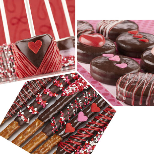 Decadent Dark Cocoa Raspberry Candy Treats