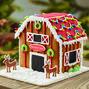 Santa's Reindeer Barn Gingerbread House