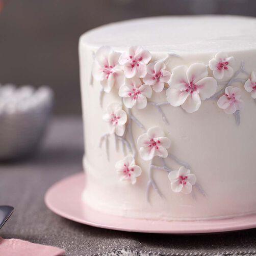 Cake Art Flower Moulding Paste Instructions : Cherry Blossom Cake Wilton