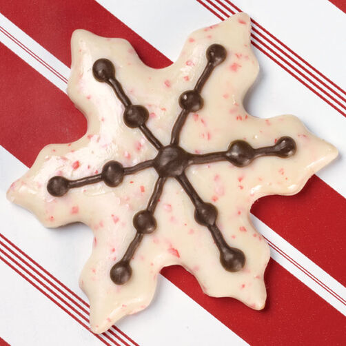 Standout Snowflake Candy-Coated Cookie