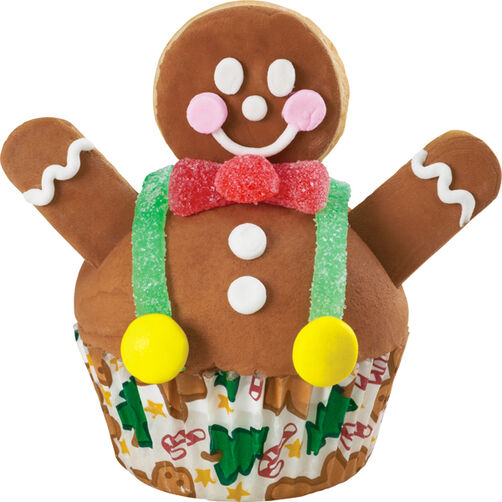 Jolly Gingerbread Cupcake