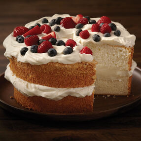 Angel Food Cake with Fresh Berries and Cream