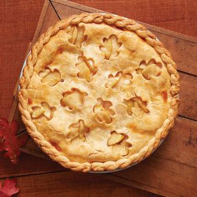 Apple Pie with Cut Out Leaf Crust