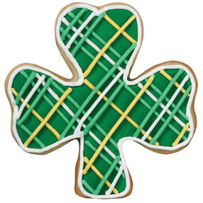 Plaid Shamrock Cookie