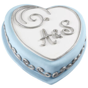 Silver Scrollwork Cake