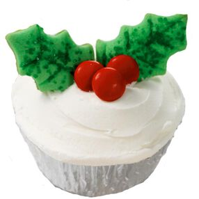 Happy Holly Days Cupcakes
