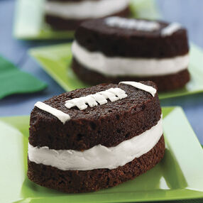 Football Brownie Ice Cream Sandwiches