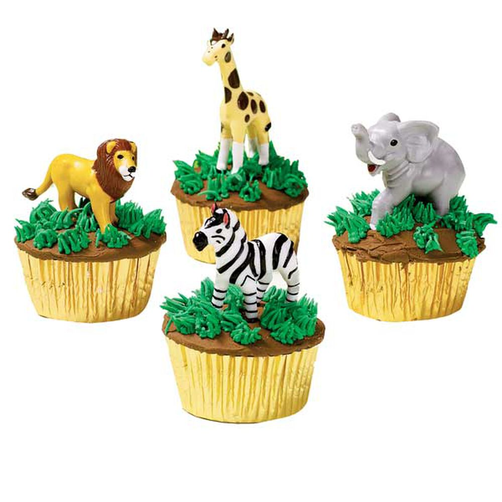 Cool zoo cupcakes wilton for Animal cake decoration
