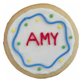 Tasty Name Tag Cookie