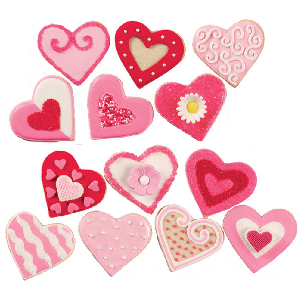 Variety of valentine s day cookies wilton