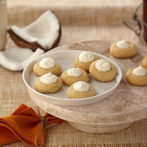 Coconut Crème Brulee Cookies