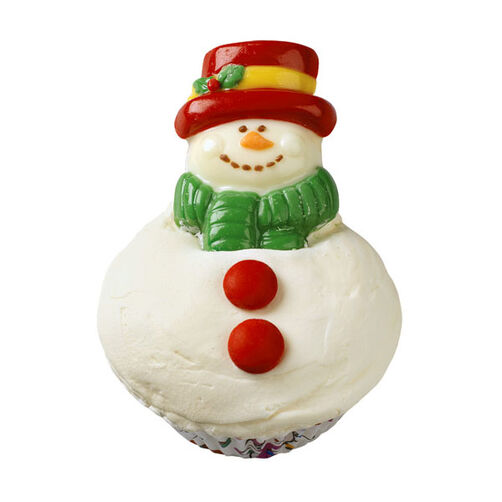 Snackable Snowman Cupcakes