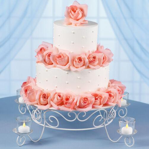 Garden Lights Wedding Cake