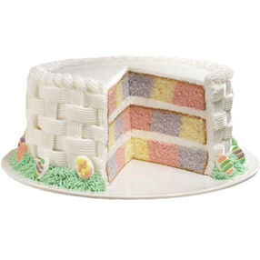 Checkerboard Pastel Easter Basket Cake
