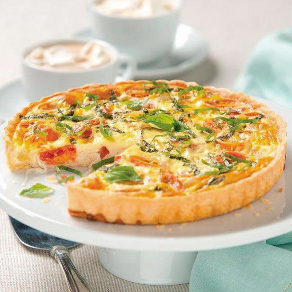 Caprese quiche for Decoration quiche