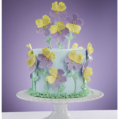 Perfect Pansies Cake