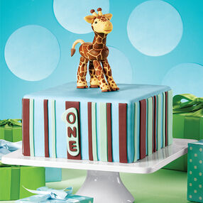 One To Grow On Giraffe Cake
