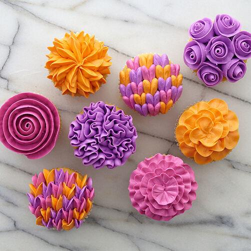 Wilton Cake Decorating Icing Flowers : Flower Gallery Cupcakes Wilton