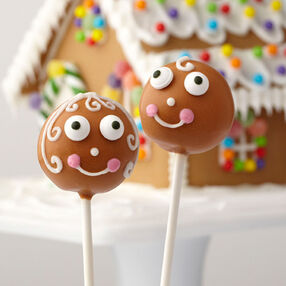 Gingerbread Friends Cake Pops