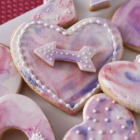 Hearts Abound Watercolor Cookies