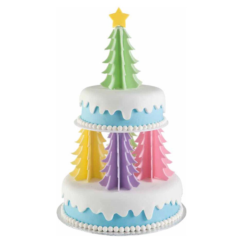 Christmas Cake Ideas Wilton : Oh Christmas Trees Cake Wilton