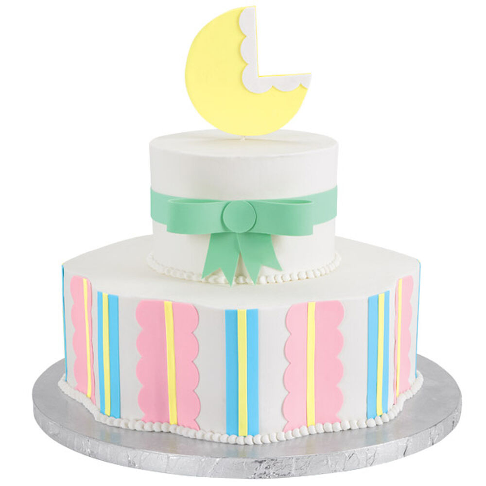 bouncing baby buggy shower cake wilton