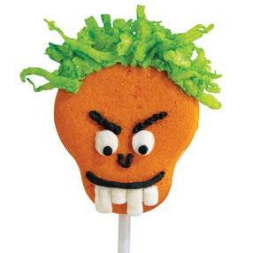 Orange Ghoul Cookie Pops
