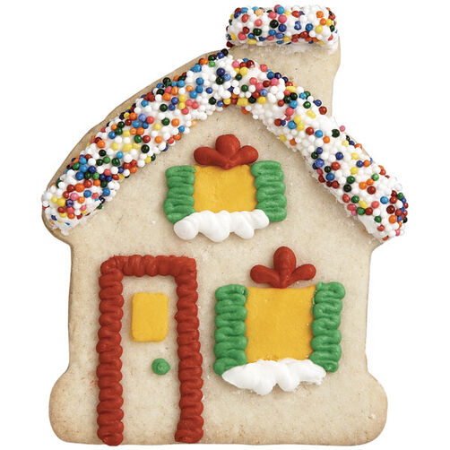 Candy Roof Gingerbread House Cookie