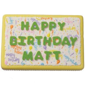 Roof-Raising Birthday Cake