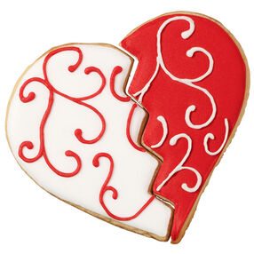 Scrolled Heart Cookies
