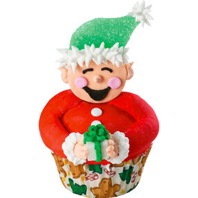 Santa?s Big Helper Cupcake