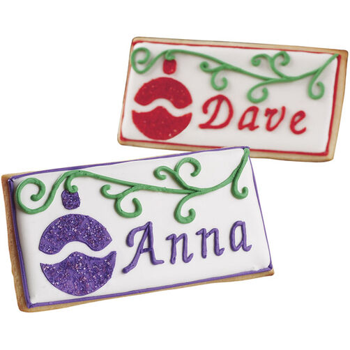 Christmas Place Card Cookies