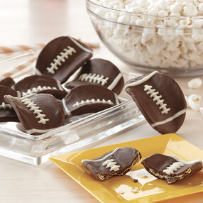 Candy Dipped Football Potato Crisps