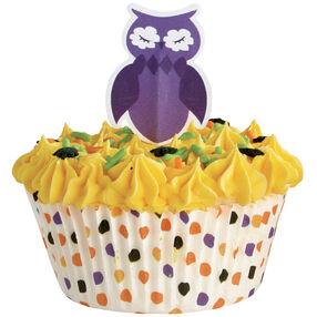 Owl Polka Dot Cupcake